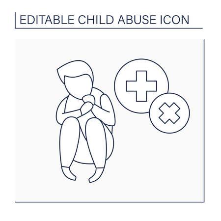 Illustration pour Medical neglect line icon - image libre de droit