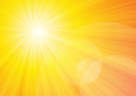 Illustration pour Vector : Sun shine with yellow background - image libre de droit