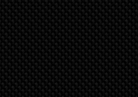 Illustration pour Vector : Abstract black metal texture on black background - image libre de droit