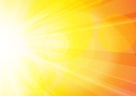 Illustration for Vector : Abstract yellow and orange sun shine with bokeh - Royalty Free Image