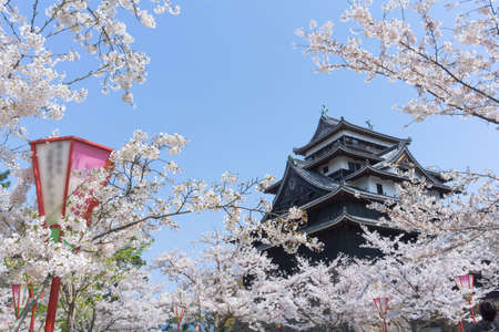 Foto de Matsue Castle is one of only a dozen original castles in Japan, meaning that its main tower has survived to this day through fires, earthquakes and the anti feudal demolitions of the Meiji Period. It is sometimes called the - Imagen libre de derechos