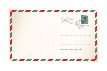 Illustration pour Letter for Santa - template postcard - image libre de droit