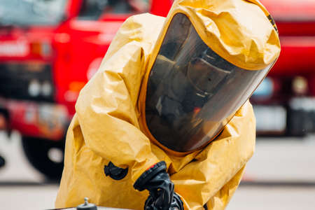 Firefighter training protect Chemical leak From the tank
