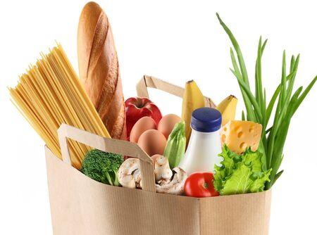 Foto für buying a paper bag of vegetables products . - Lizenzfreies Bild