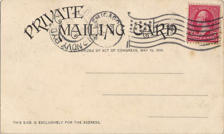vintage postcard with a stamp