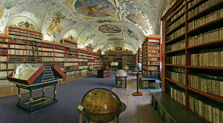 Foto de Prague - matematical hall of the Strahov convent library - Imagen libre de derechos
