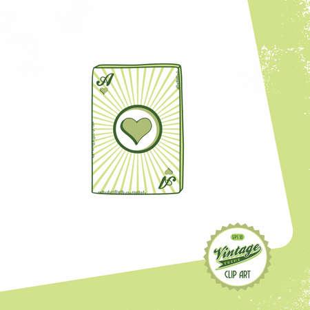 poker theme vintage heart