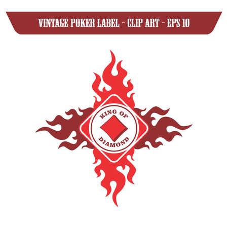 diamond fire poker label