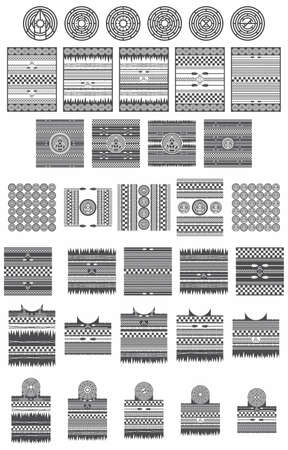 native american tribe pattern collection