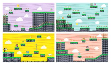 Illustration pour game assets platform - image libre de droit