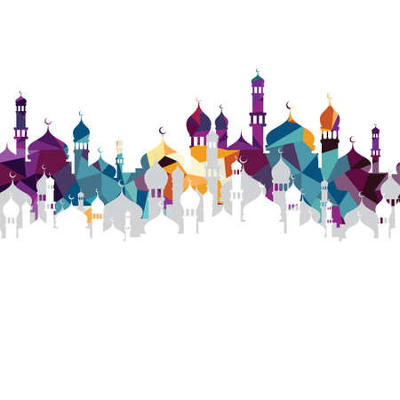 Illustration pour arabic islam calligraphy almighty god allah most gracious theme - muslim faith - image libre de droit