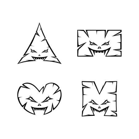 Illustration pour monster character sign symbol vector art - image libre de droit