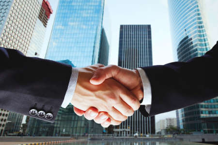 partnership, cooperation of two companies, deal of two businessmen