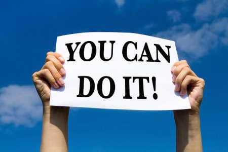 Foto de you can do it, motivational sign - Imagen libre de derechos