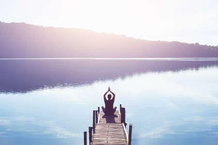 Foto de meditation and yoga background - Imagen libre de derechos