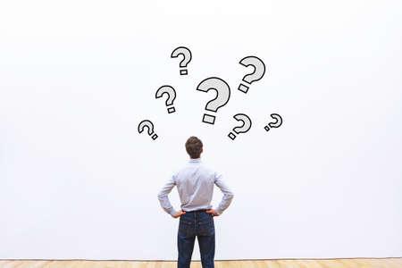 Photo pour questions, business concept - image libre de droit