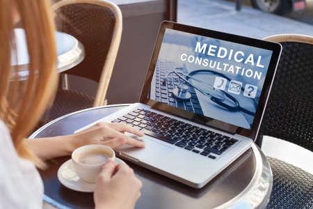 medical consultation online, doctor advice on internet