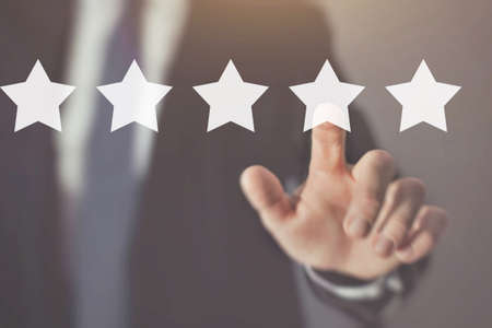 Photo for customer review and feedback, reputation management - Royalty Free Image