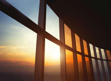 Photo pour abstract business building window, modern office interior architecture - image libre de droit