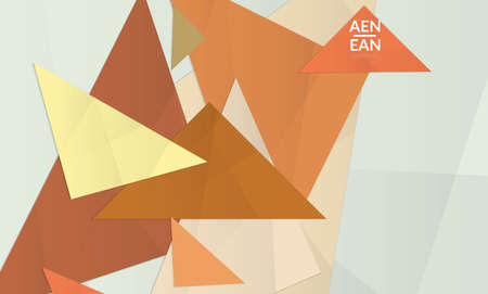 Abstract vector cover template with folded paper overlapping geometric shapes. Environmental design with cut out geometric objects made of recycled reused paper. Top view geometric pattern.