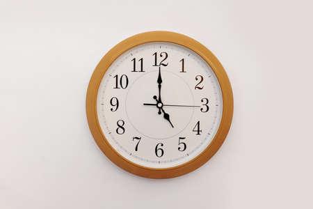 Photo pour Alarm clock 11.55 on a white background, space for text - image libre de droit
