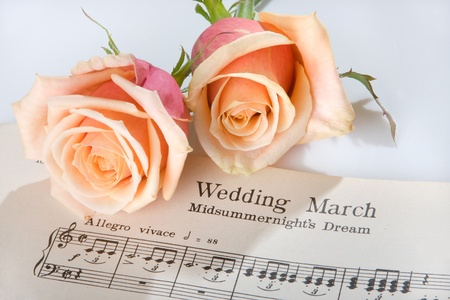 Sheet music of the Wedding March