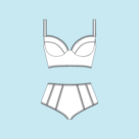 Lingerie. panties. bra. swimsuit. bikini.