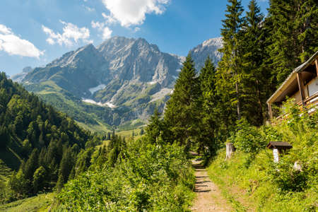 Photo for Picturesque mountain landscape with majestic mountains rising high. - Royalty Free Image