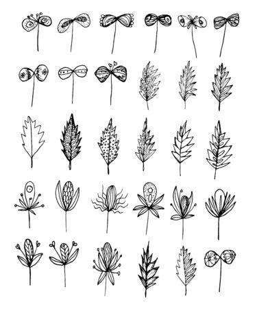 Ilustración de Elements for decoration set vector illustration - Imagen libre de derechos
