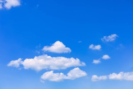Photo pour Blue sky with cloud background. With copy space for text or design. - image libre de droit