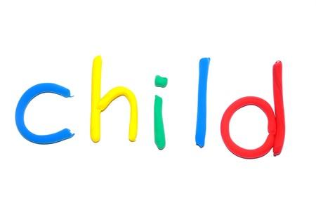 Plasticine word Child