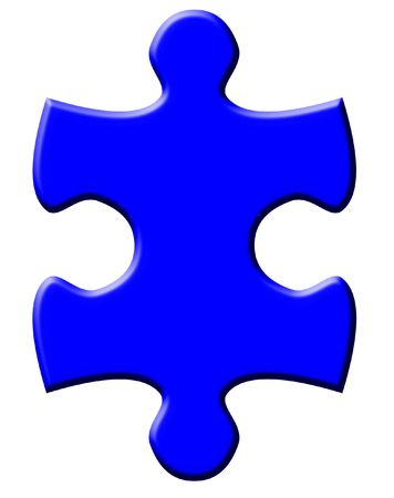 One isolated puzzle piece