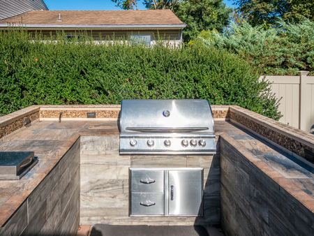 Photo for Built-in grill at the private deck - Royalty Free Image