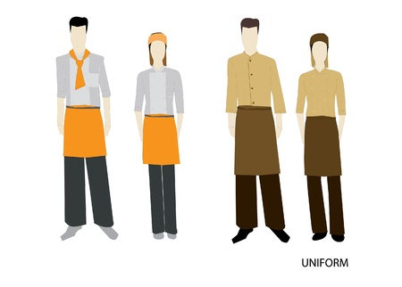 The Uniform complete set Isolated over white background