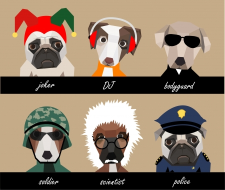 Dog character set A