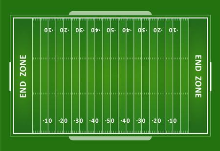 Illustration pour A vector grass textured American football field. EPS 10. - image libre de droit