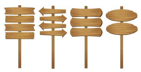 Wood board. Vector illustration.