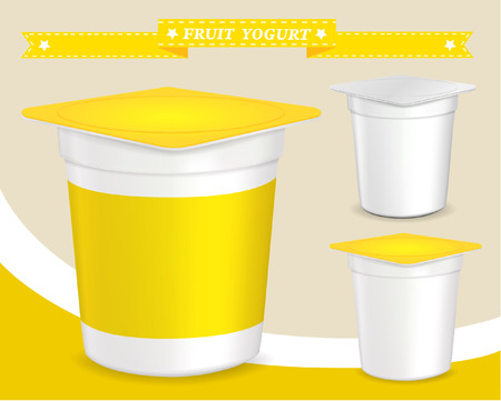 plastic container for yogurt (yogurt dessert, yogurt container, design of packing yogurt, food plastic container, design of packing yogurt)