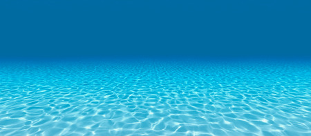 Photo for Sandy bottom, blue and surface underwater. 3d render - Royalty Free Image