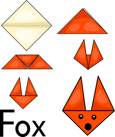 Origami Fox - Origami for Kids - Easy Peasy and Fun | 450x378