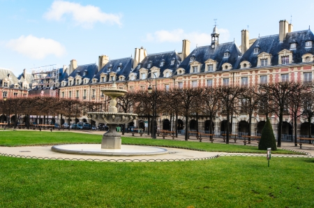 The Place des Vosges in Paris France.