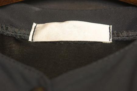 Clothing label inside of shirt
