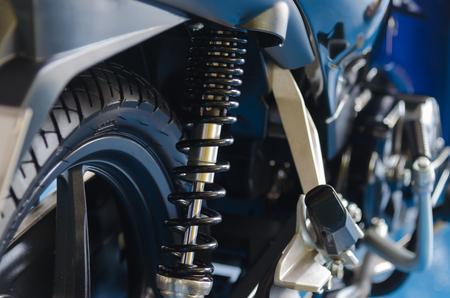 Photo pour Black motorcycle shock absorbers - image libre de droit