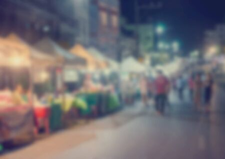 Photo pour Blur Festival food shopping people as a background image of the product. - image libre de droit
