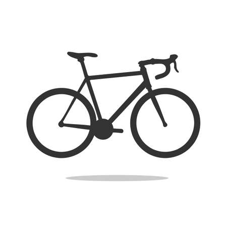 Illustration for road bike silhouette, detailed vector illustration. vector road bicycle icon. - Royalty Free Image