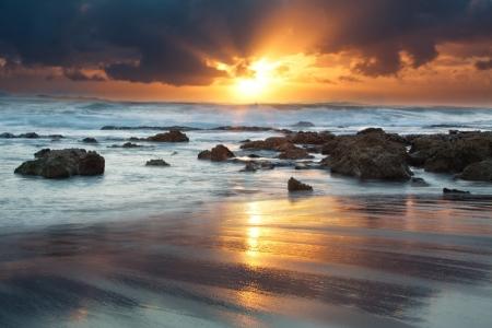 Sunrise landscape of ocean w