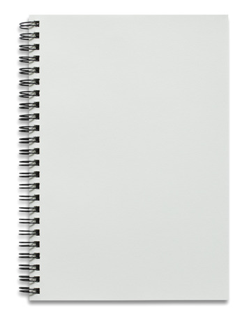 Photo pour blank white spiral notebook isolated on white - image libre de droit