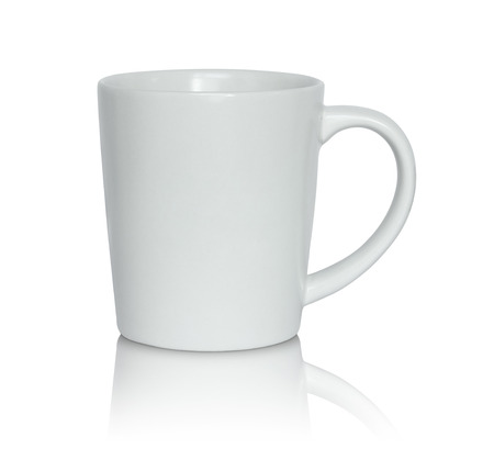 Photo pour empty white cup isolated on white background - image libre de droit