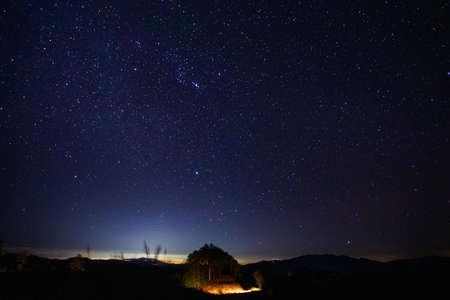 Photo pour Stars at night, Chiang mai, Thailand - image libre de droit