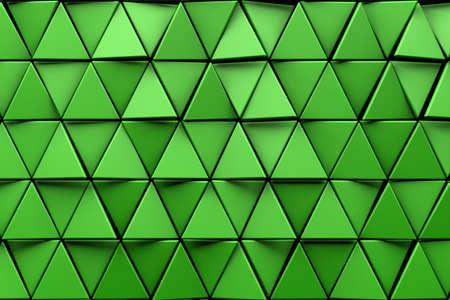 Photo pour CGI 3d triangular wallpaper background - image libre de droit